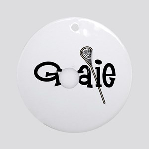 Lacrosse Goalie Ornament (Round)