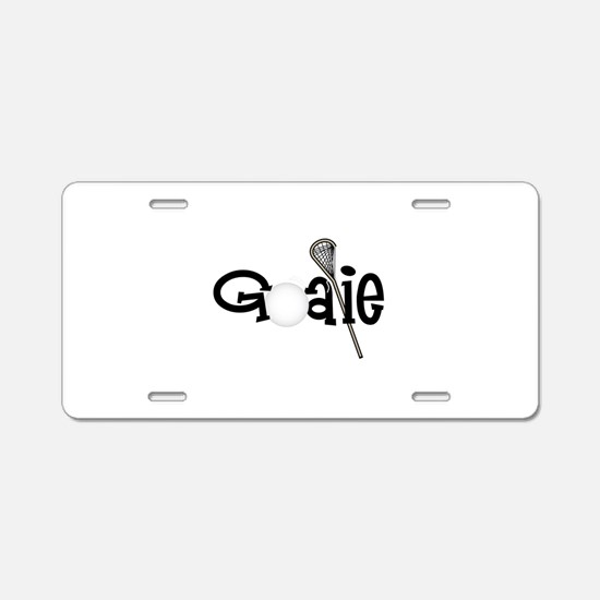 Lacrosse Goalie Aluminum License Plate