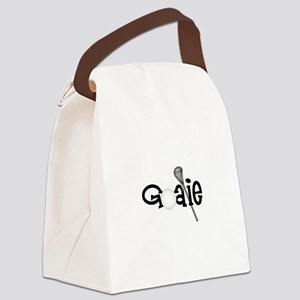 Lacrosse Goalie Canvas Lunch Bag