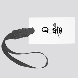 Lacrosse Goalie Luggage Tag