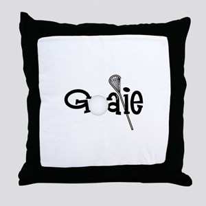 Lacrosse Goalie Throw Pillow