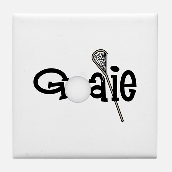 Lacrosse Goalie Tile Coaster