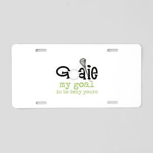 My Goal Aluminum License Plate