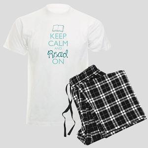 Keep Calm And Read On Men's Light Pajamas