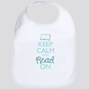 Keep Calm and Read On Bib