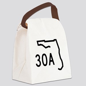 30A Florida State Road Canvas Lunch Bag