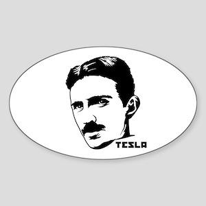 Nikola Tesla Oval Sticker