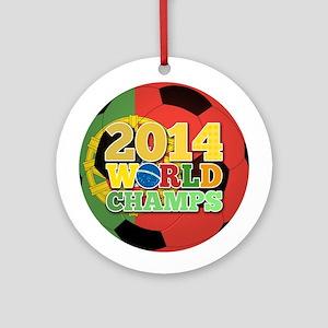 2014 World Champs Ball - Portugal Ornament (Round)