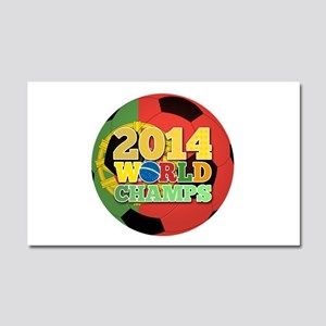 2014 World Champs Ball - Portugal Car Magnet 20 x