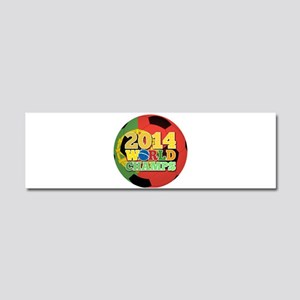 2014 World Champs Ball - Portugal Car Magnet 10 x