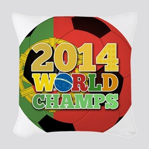 2014 World Champs Ball - Portugal Woven Throw Pill