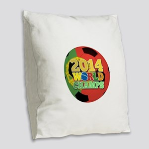 2014 World Champs Ball - Portugal Burlap Throw Pil