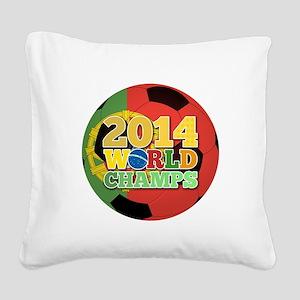 2014 World Champs Ball - Portugal Square Canvas Pi