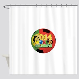 2014 World Champs Ball - Portugal Shower Curtain