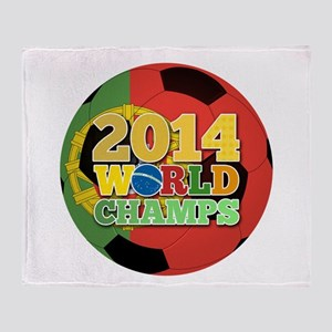 2014 World Champs Ball - Portugal Throw Blanket