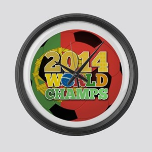 2014 World Champs Ball - Portugal Large Wall Clock
