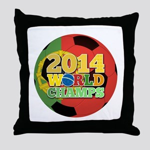 2014 World Champs Ball - Portugal Throw Pillow