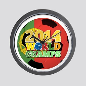 2014 World Champs Ball - Portugal Wall Clock