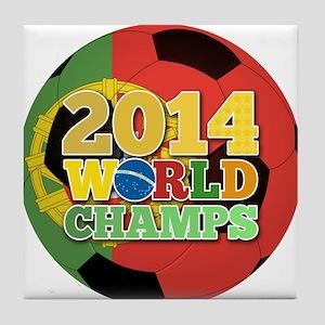 2014 World Champs Ball - Portugal Tile Coaster