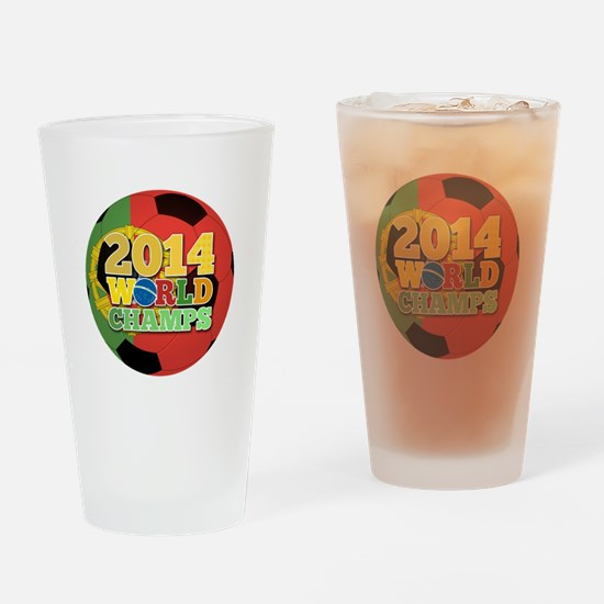 2014 World Champs Ball - Portugal Drinking Glass