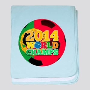 2014 World Champs Ball - Portugal baby blanket