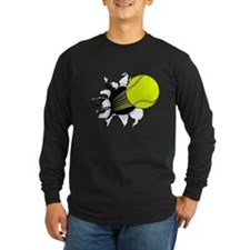 Breakthrough Tennis Ball Long Sleeve Dark T-Shirt