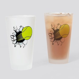 Breakthrough Tennis Ball Drinking Glass