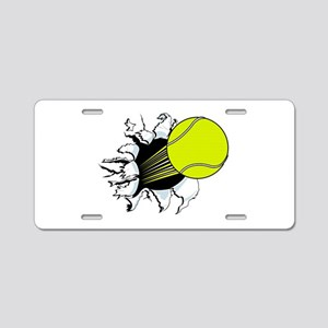Breakthrough Tennis Ball Aluminum License Plate