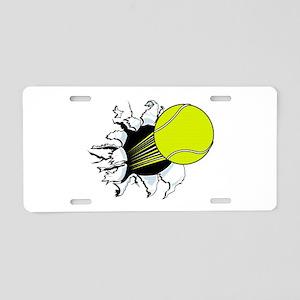Breakthrough Tennis Ball Aluminum License Plate