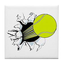 Breakthrough Tennis Ball Tile Coaster