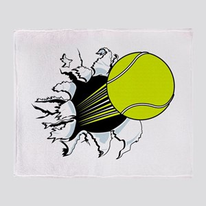Breakthrough Tennis Ball Throw Blanket