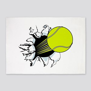 Breakthrough Tennis Ball 5'x7'Area Rug
