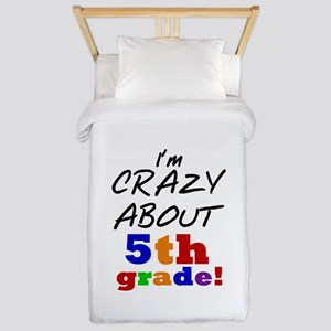 Crazy About 5th Grade Twin Duvet