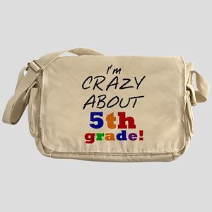 Crazy About 5th Grade Messenger Bag