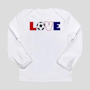Love Soccer USA Colors Long Sleeve T-Shirt