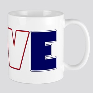 Love Soccer USA Colors Mugs
