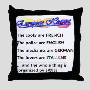 Heavenly Europe Throw Pillow