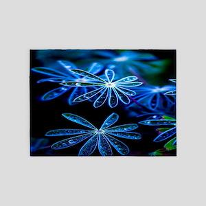 Raindrop Flowers 5'x7'Area Rug