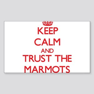 Keep calm and Trust the Marmots Sticker