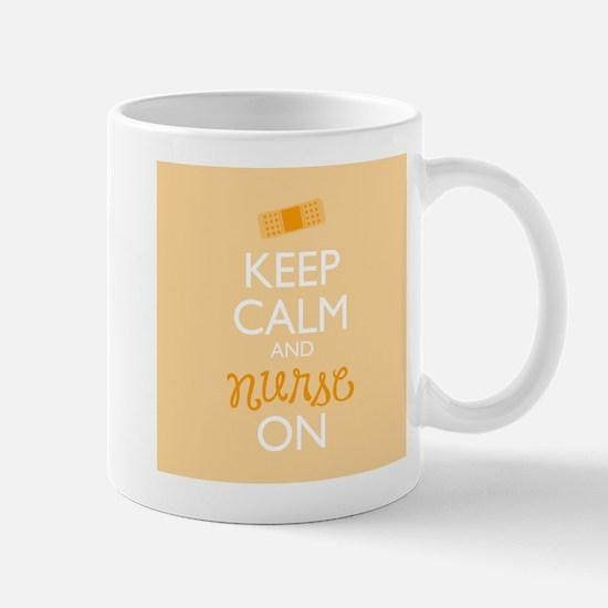 Keep Calm and Nurse On Mugs