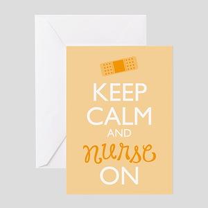 Keep Calm and Nurse On Greeting Cards