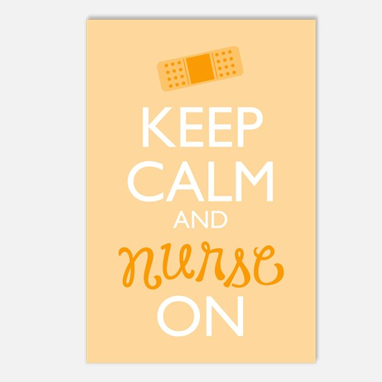 Keep Calm And Nurse On Postcards (package Of 8)