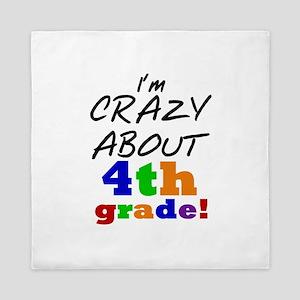 Crazy About 4th Grade Queen Duvet