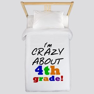 Crazy About 4th Grade Twin Duvet
