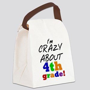 Crazy About 4th Grade Canvas Lunch Bag