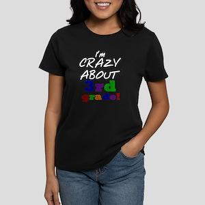Crazy About 3rd Grade Women's Dark T-Shirt