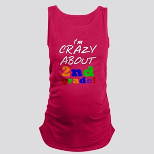 Crazy About 2nd Grade Maternity Tank Top