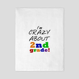 Crazy About 2nd Grade Twin Duvet