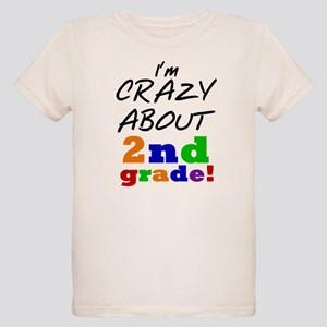 Crazy About 2nd Grade Organic Kids T-Shirt