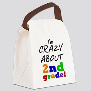 Crazy About 2nd Grade Canvas Lunch Bag